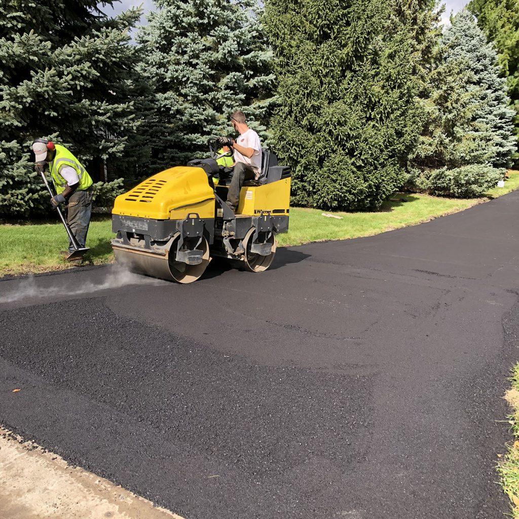 A) rolling fresh driveway-crop